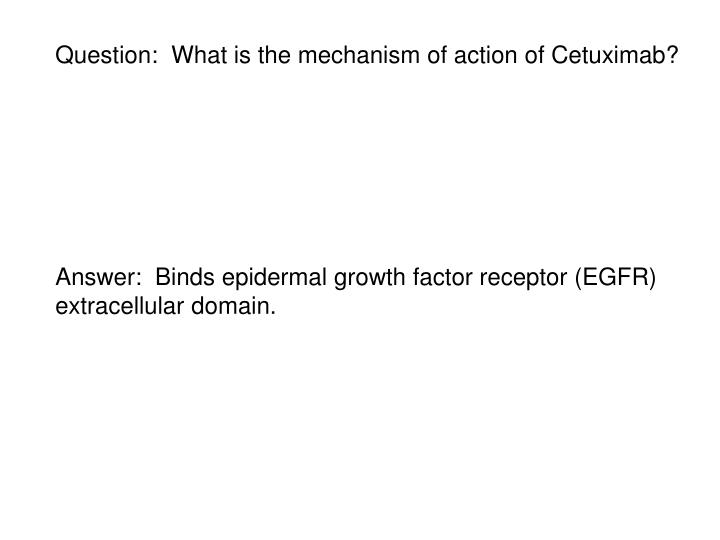 Question:  What is the mechanism of action of Cetuximab?