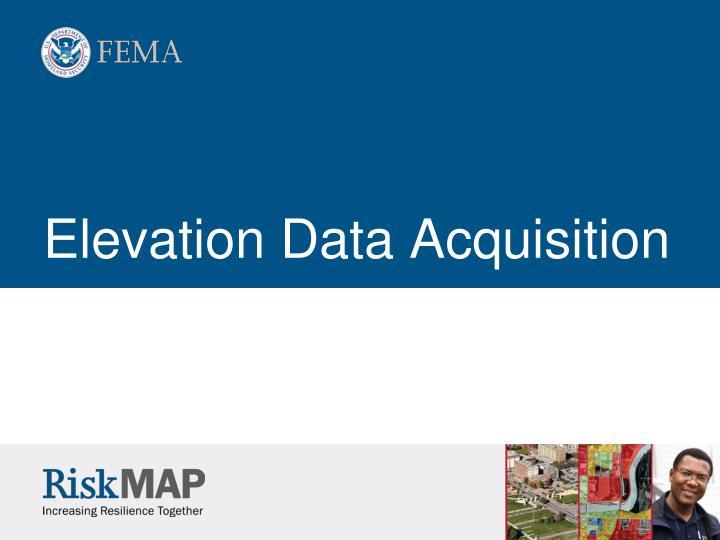 Elevation Data Acquisition
