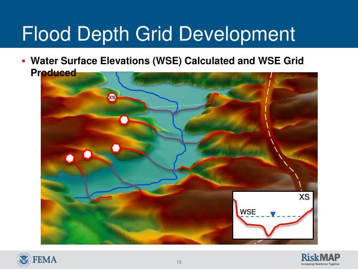 Flood Depth Grid Development