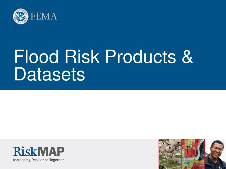 Flood Risk Products & Datasets