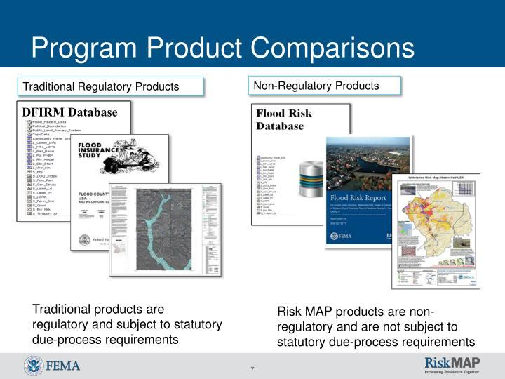 Program Product Comparisons