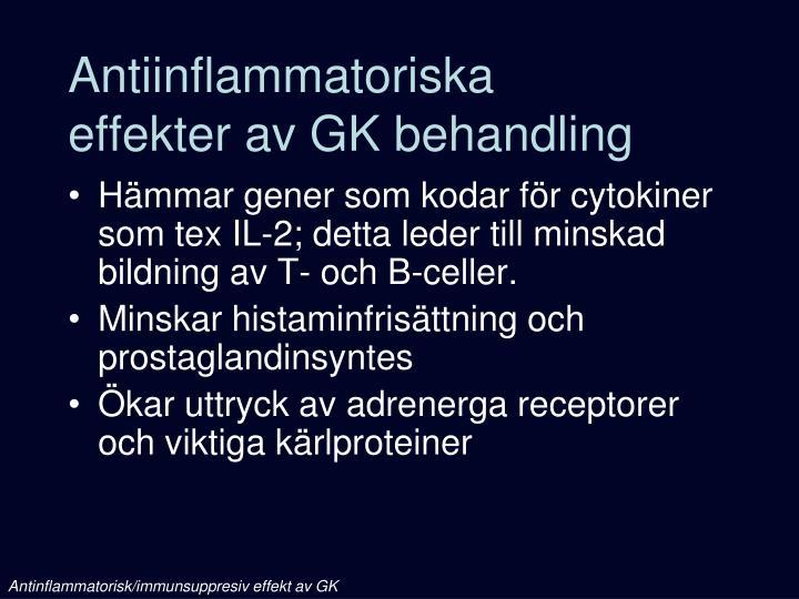 Antiinflammatoriska