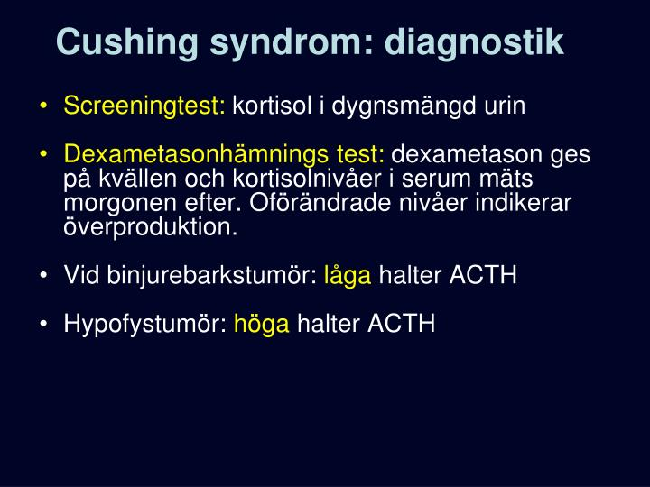 Cushing syndrom: diagnostik