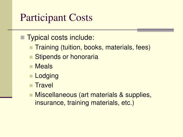 Participant Costs