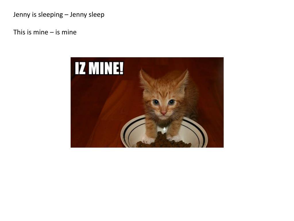 Jenny is sleeping – Jenny sleep