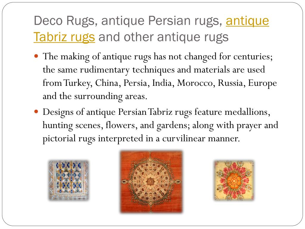 Deco Rugs, antique Persian rugs,