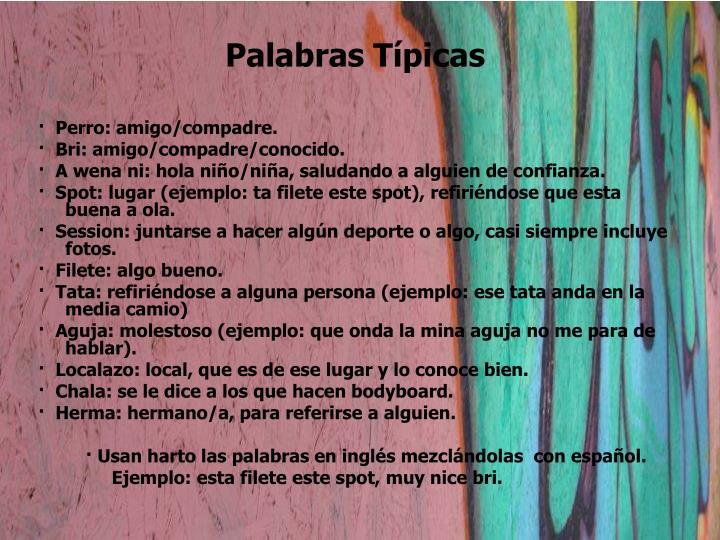 Palabras Típicas