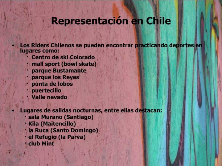 Representación en Chile