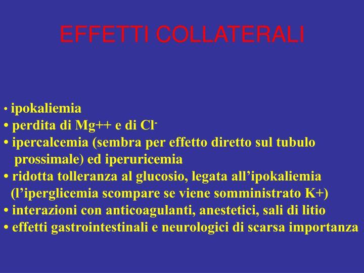 effetti collaterali termogenici