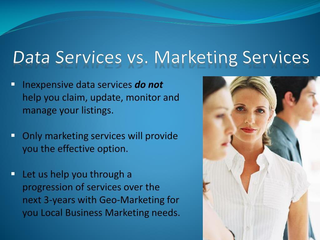Data Services vs. Marketing Services