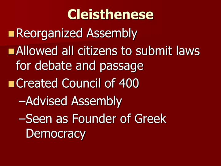 Cleisthenese