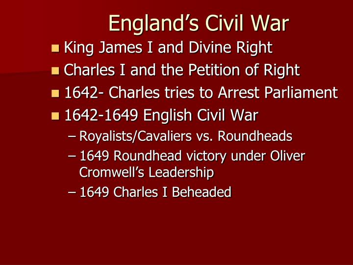 England's Civil War