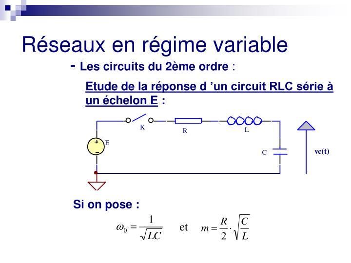 Etude de la réponse d'un circuit RLC série à un échelon E