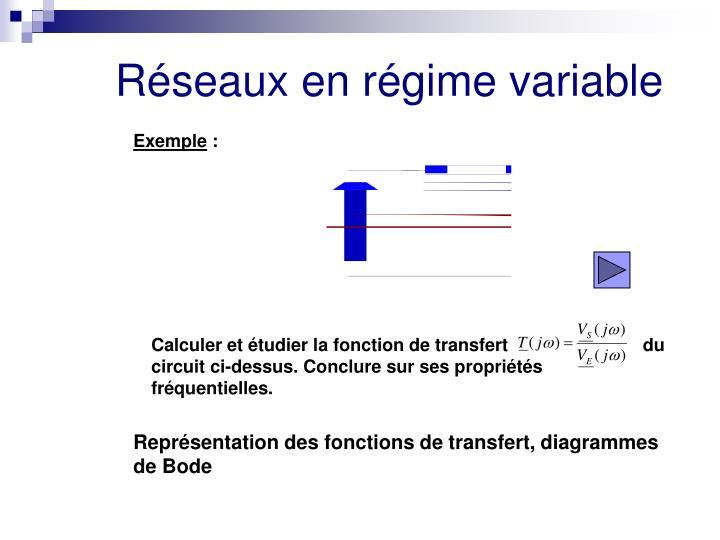 Calculer et étudier la fonction de transfert                           du circuit ci-dessus. Conclure sur ses propriétés                 fréquentielles.