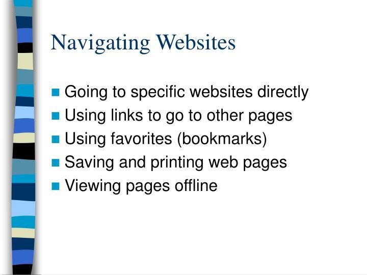 Navigating Websites
