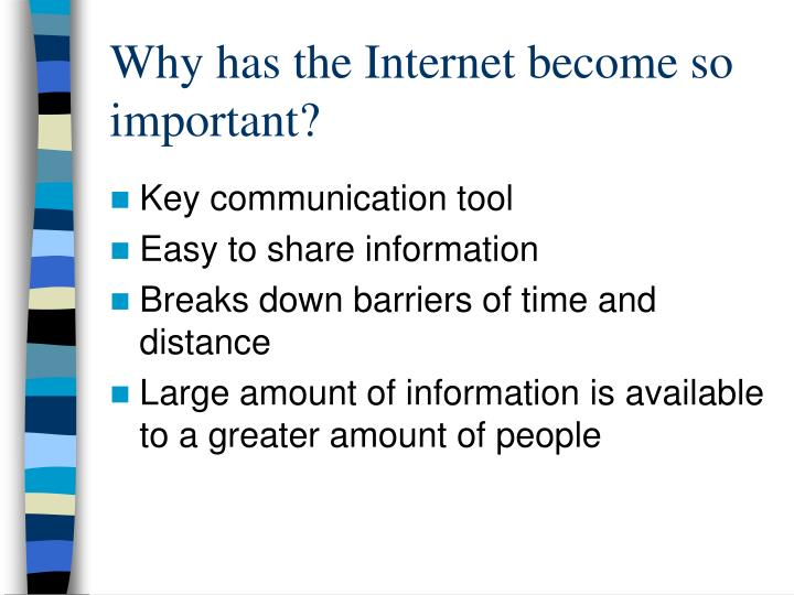 Why has the Internet become so important?