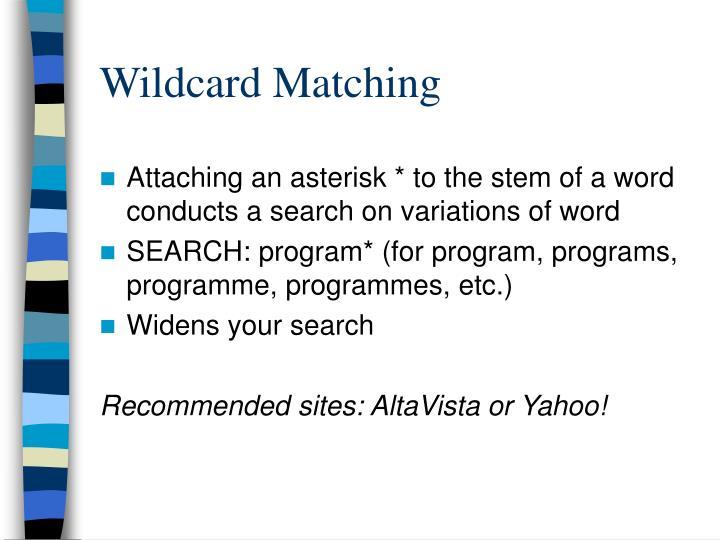 Wildcard Matching