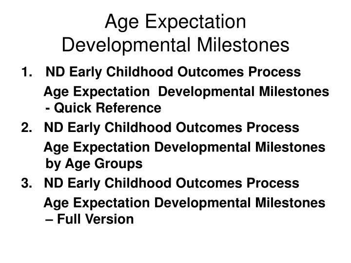 Age Expectation