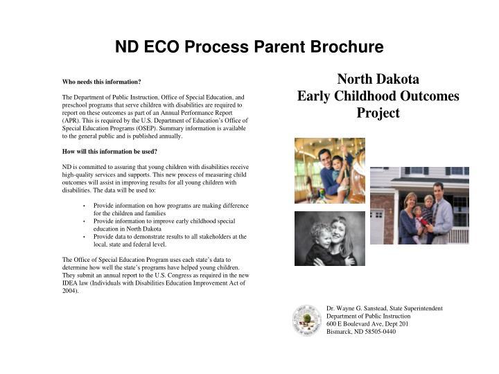 ND ECO Process Parent Brochure