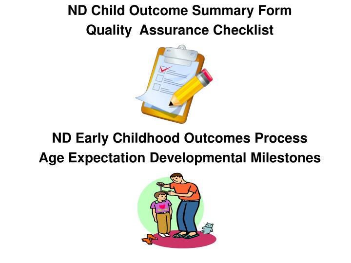 ND Child Outcome Summary Form