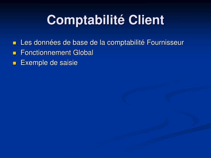 Les données de base de la comptabilité Fournisseur