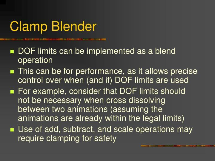 Clamp Blender