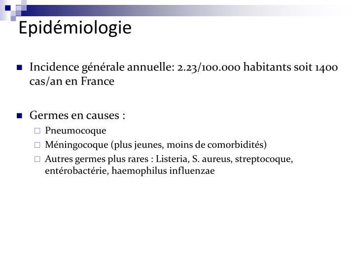 Epidémiologie