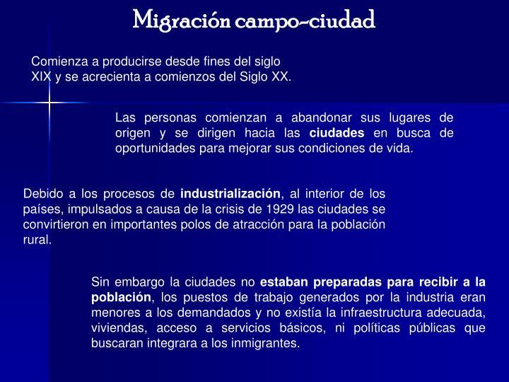 Migración campo-ciudad