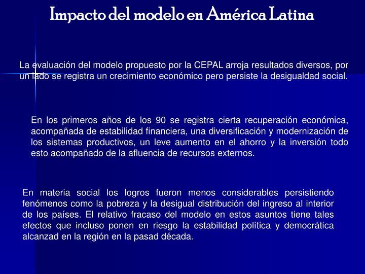 Impacto del modelo en América Latina