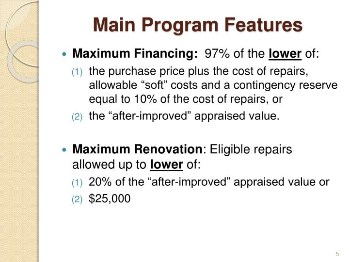 Main Program Features