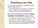 submitting loan files