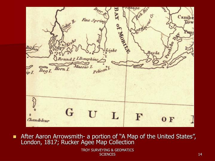 "After Aaron Arrowsmith- a portion of ""A Map of the United States"", London, 1817; Rucker Agee Map Collection"
