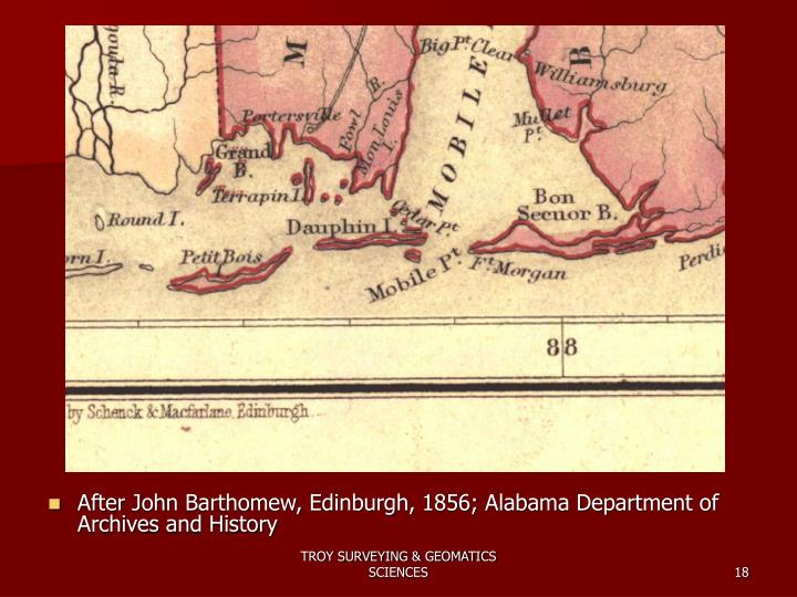 After John Barthomew, Edinburgh, 1856; Alabama Department of Archives and History