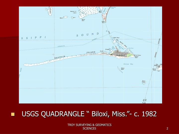 "USGS QUADRANGLE "" Biloxi, Miss.""- c. 1982"
