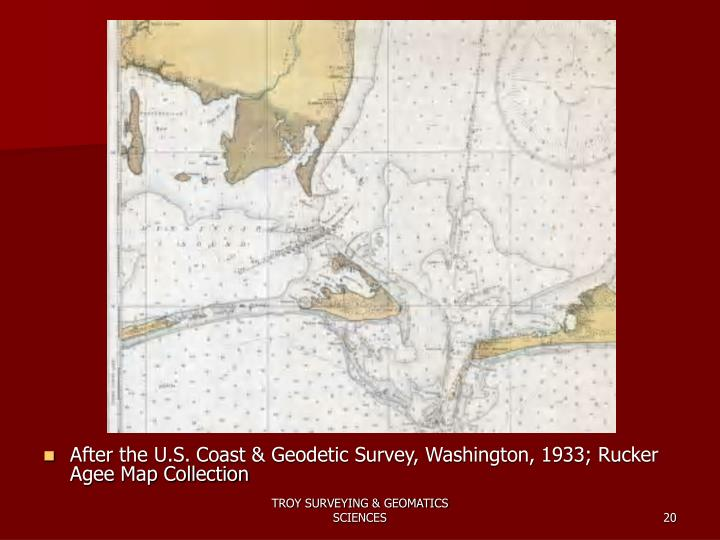 After the U.S. Coast & Geodetic Survey, Washington, 1933; Rucker Agee Map Collection