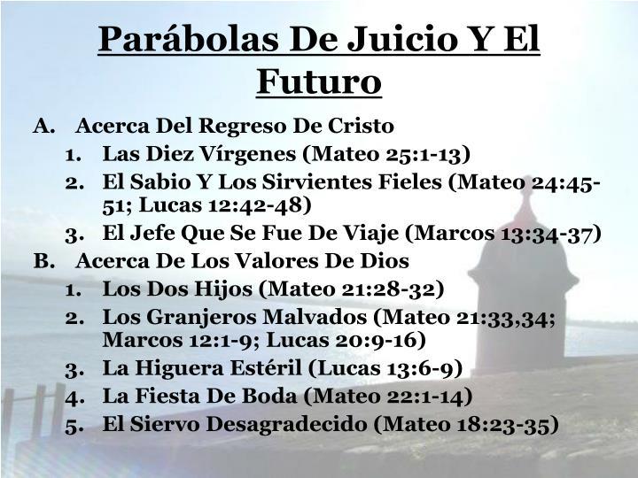 Parábolas De Juicio Y El Futuro