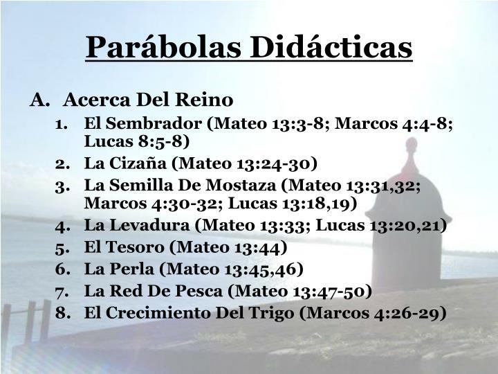 Parábolas Didácticas