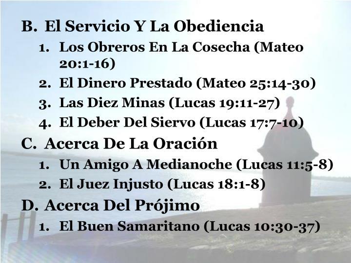 El Servicio Y La Obediencia