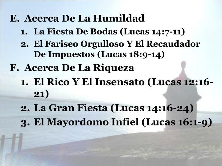 Acerca De La Humildad