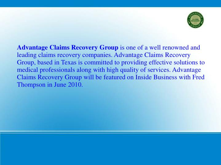 Advantage Claims Recovery Group