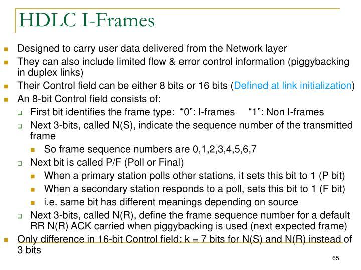 HDLC I-Frames