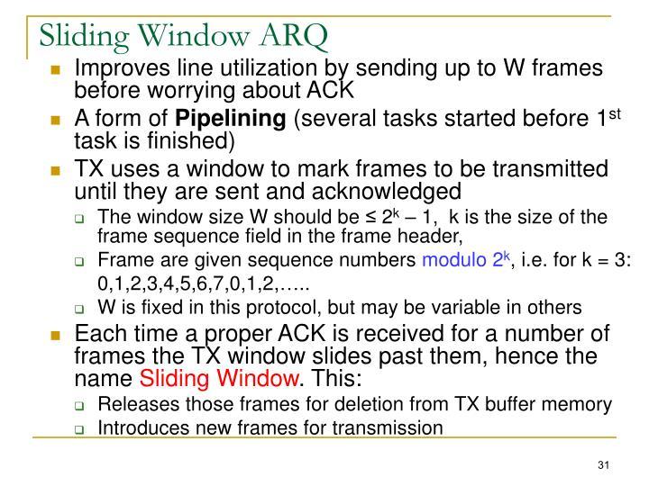 Sliding Window ARQ