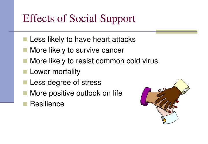 the effect of social support or Full-text paper (pdf): effects of stress on the social support provided by men and women in intimate relationships.