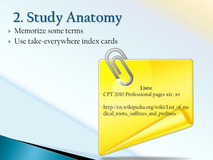 2. Study Anatomy