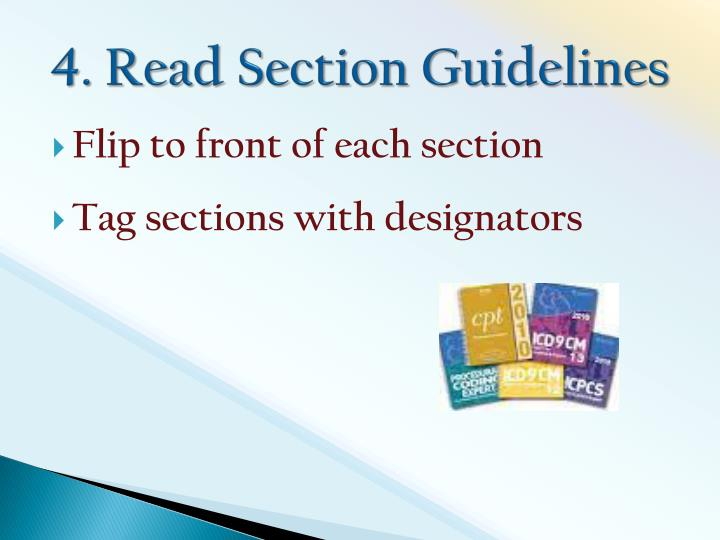4. Read Section Guidelines