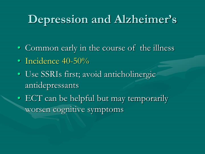 Depression and Alzheimer's