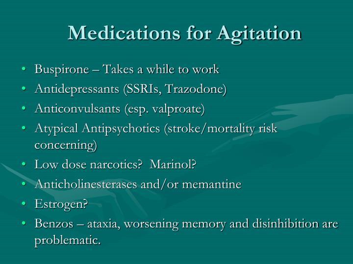 Medications for Agitation