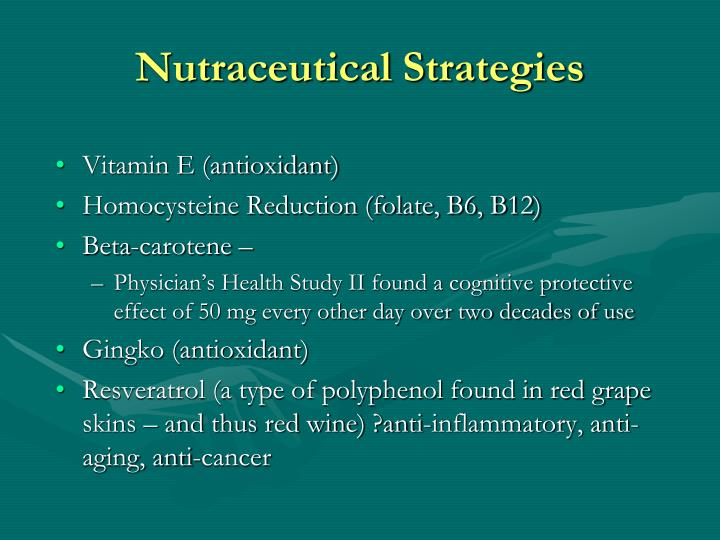 Nutraceutical Strategies