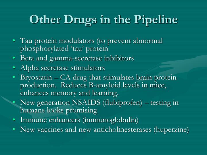 Other Drugs in the Pipeline
