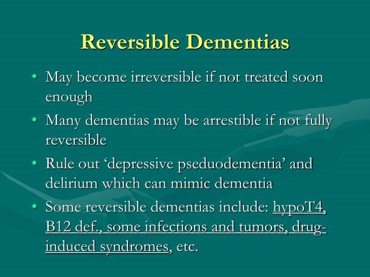 Reversible Dementias